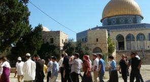 عشرات المستوطنين يقتحمون المسجد الأقصى