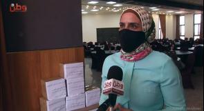 """الاتحاد العام للمرأة الفلسطينية لوطن : مستمرون في تقديم يد العون والمساعدة لاهلنا في مخيم الجلزون لمواجهة جائحة """" كورونا"""