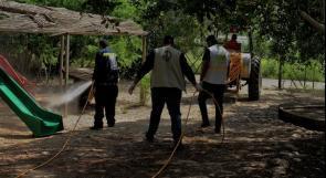"""الإغاثة الزراعية تنظم حملة تعقيم لبلدة """"فروش بيت دجن"""" في الأغوار"""