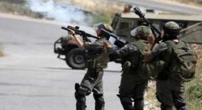 إصابات بالاختناق إثر مواجهات مع الاحتلال في بلدة كفر مالك شرقي رام الله