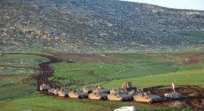 المحاصيل الزراعية في الأغوار تحت جنازير مصفحات الاحتلال