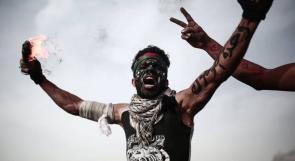 """جمعة """"الكاوتشوك"""" على حدود قطاع غزة"""