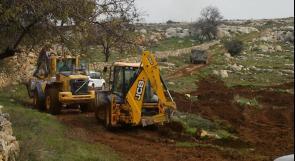 مستوطنون يجرفون 15 دونماً من اراضي جالود في نابلس