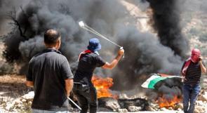 إصابة العشرات بالاختناق والرصاص المعدني خلال مواجهات مع الاحتلال في بلدة بيتا