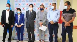 الأونروا واليابان تحتفلان باستكمال المرحلة الثانية من مشروع شبكة الصرف الصحي في مخيم عقبة جبر