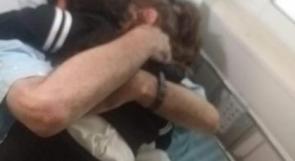 للمرة الأولى منذ 3 شهور إضراب عن الطعام.. الأسير الأخرس يحتضن طفلته في المستشفى