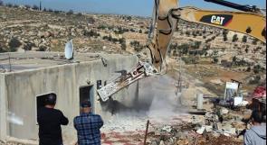 """الاحتلال يتوسع في هدم منازل المواطنين في المناطق المصنفة """"ج"""""""