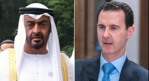 اتصال هاتفي بين الأسد ومحمد بن زايد لمناقشة سبل وقف تفشي وباء كورونا