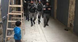 صورة خلال اقتحام قوات الاحتلال لمدينة الخليل