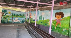 على الجدران.. يروي الفنان عبد الحميد حكايات الوطن