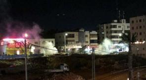 إصابات جراء اطلاق الاحتلال  الغاز السام على منازل المواطنين شرق رفح فجرا