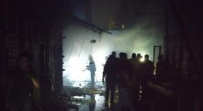 مصر: حريق ضخم يلتهم عددا من المحال التجارية