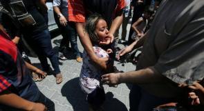 في بكاء الشهيد عبد الكريم رضوان الذي ارتقى اثر قصف الاحتلال شرق رفح