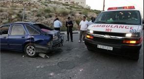 12 إصابة إثر ثلاثة حوادث سير في جنين