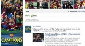 """برشلونة يدشن صفحة جديدة على """"فيسبوك"""""""