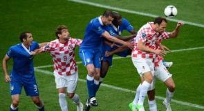 التعادل الإيجابي بين إيطاليا وكرواتيا بهدف لكل منهما