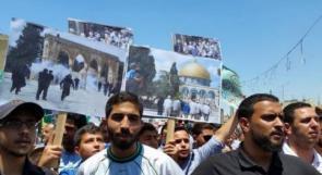 مهرجان نصرة للأسرى الفلسطينيين بمخيم الوحدات في الأردن