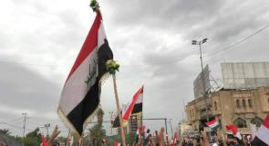فيديو| تظاهرات حاشدة في بغداد تطالب بإنهاء وجود القوات الأمريكية في العراق