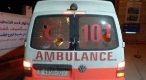 إصابة متطوعيّ إسعاف خلال مواجهات مع الاحتلال في العيزرية