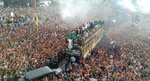 حشود بشرية ضخمة في استقبال أبطال أفريقيا