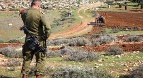 قوات الاحتلال تجري عمليات مسح وتصوير لـ25 دونما شرق الخليل