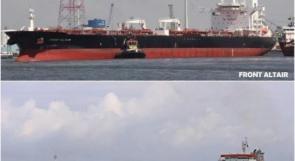 اخلاء ناقلات النفط في بحر عُمان والنيران لا تزال مشتعلة