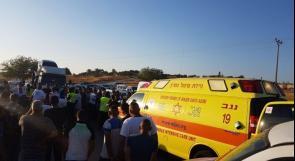 النقب: مصرع الشاب رزق ابنيه متأثرا بإصابته بحادث طرق