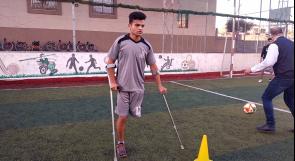 """محترف في """"كرة القدم البتر"""".. أبو ذقن يتحدى الإعاقة ويحلم بالوصول للعالمية"""