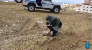 الشرطة تتلف 6 أجسام من مخلفات الاحتلال في سلفيت