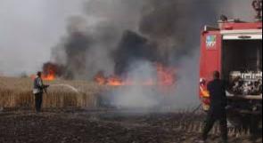 """3 حرائق في """"غلاف غزة"""" بفعل طائرات حارقة"""