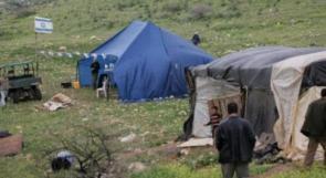 مستوطنون ينصبون خيمة في قصرة جنوب نابلس