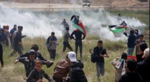 صحة غزة: 75 إصابة خلال قمع الاحتلال لمسيرات العودة