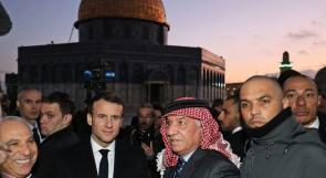 الرئيس ماكرون يزور المسجد الاقصى