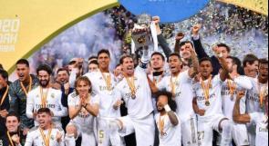 ريال مدريد يتوج بكأس السوبر الإسباني بعد فوزه على أتلتيكو في السعودية