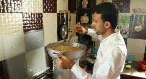 """خاص لـ""""وطن"""": بالفيديو.. غزة: """"شيف عبسان"""".. من مطبخه لطموح تمثيل فلسطين في """"المحافل الدولية"""""""