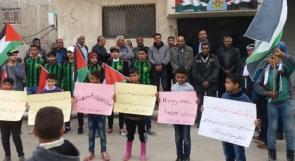 مخيم السبينة في ريف دمشق يتضامن مع الأسرى في سجون الاحتلال