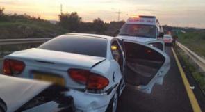 3 إصابات بحادث طرق قرب الطيبة