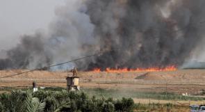"""6 حرائق في """"غلاف غزة"""" بفعل بالونات حارقة"""