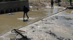 """خاص لـ""""وطن"""": بالفيديو.. غزة: """"المغراقة"""" على موعد مع الغرق كل شتاء"""
