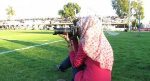 """خاص لـ """"وطن"""": بالفيديو.. غزة: المصري.. """"فتاة الملاعب"""" 15 عامًا من العمل في الإعلام الرياضي"""
