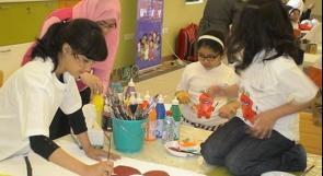 بالصور.. ورشة فنية بالقاهرة لأطفال فلسطين