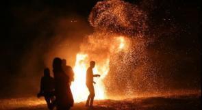"""فعاليات """"الإرباك الليلي"""" مستمرة على حدود قطاع غزة"""