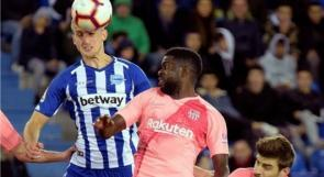 """برشلونة يدهس الأفيس وخطوة تفصله عن لقب """"الليجا"""""""