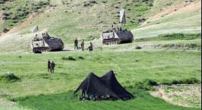 الأغوار الشمالية: حقول خضراء تحت نيران التدريبات العسكرية