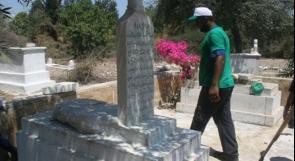يوم تطوعي في مقبرة القسام للتصدي لمحاولات الاحتلال سلبها