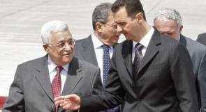 رسالة من الرئيس عباس إلى نظيره الأسد