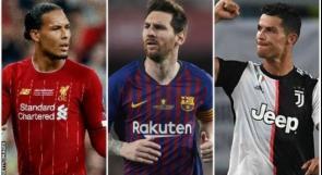 ميسي ورونالدو وفان دايك يتنافسون على لقب أفضل لاعب في أوروبا