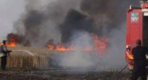 حرائق في الأحراش داخل السياج الفاصل شرق غزة