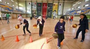 """خاص لـ """"وطن"""": بالفيديو.. غزة: فتيات يتحدَيْنَ الواقع ويمارسن رياضة كرة السلة"""