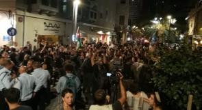 فيديو| بالاسماء.. الاحتلال يعتقل 20 ناشطاً بعد قمعه مظاهرة نصرة لغزة في حيفا